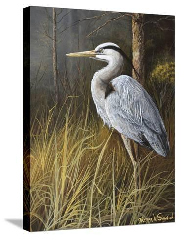 Guard at Water's Edge-Trevor V. Swanson-Stretched Canvas Print