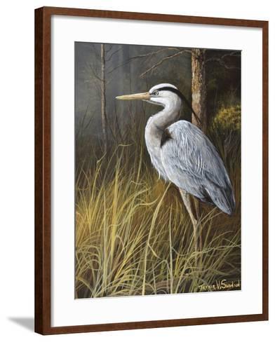 Guard at Water's Edge-Trevor V. Swanson-Framed Art Print