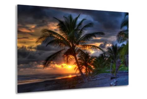 Beach at Sunset-Robert Kaler-Metal Print