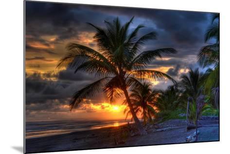 Beach at Sunset-Robert Kaler-Mounted Photographic Print