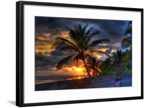Beach at Sunset-Robert Kaler-Framed Art Print