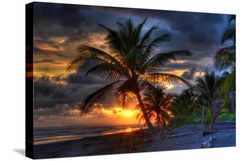 Beach at Sunset-Robert Kaler-Stretched Canvas Print