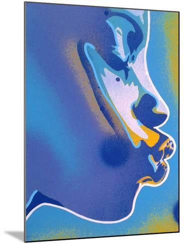 Blue Kiss-Abstract Graffiti-Mounted Giclee Print