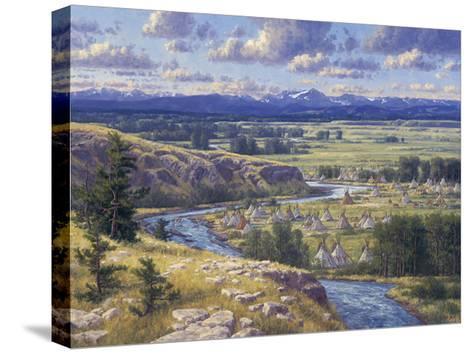 Little Big Horn-Randy Van Beek-Stretched Canvas Print