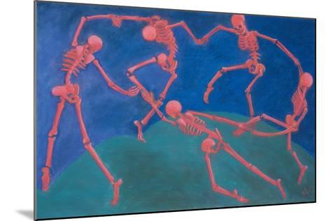 The (Skelly) Dance-Marie Marfia Fine Art-Mounted Giclee Print