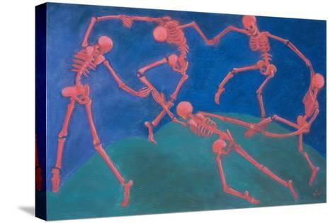 The (Skelly) Dance-Marie Marfia Fine Art-Stretched Canvas Print