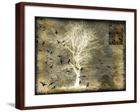 A Raven's World Spirit Tree-LightBoxJournal-Framed Art Print