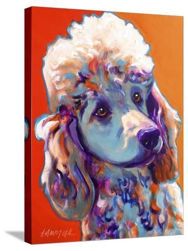 Poodle - Bonnie-Dawgart-Stretched Canvas Print