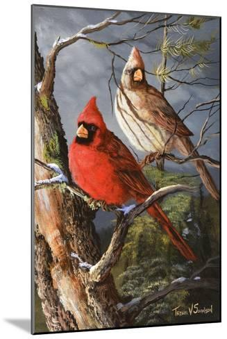 Winter's Perch 2-Trevor V. Swanson-Mounted Giclee Print