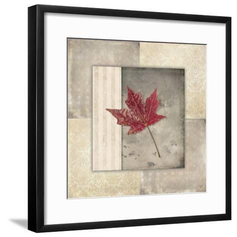 Lodge Leaf Tile 1-LightBoxJournal-Framed Art Print