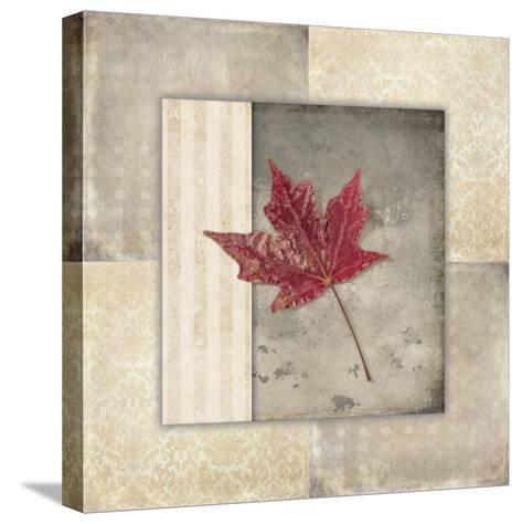 Lodge Leaf Tile 1-LightBoxJournal-Stretched Canvas Print