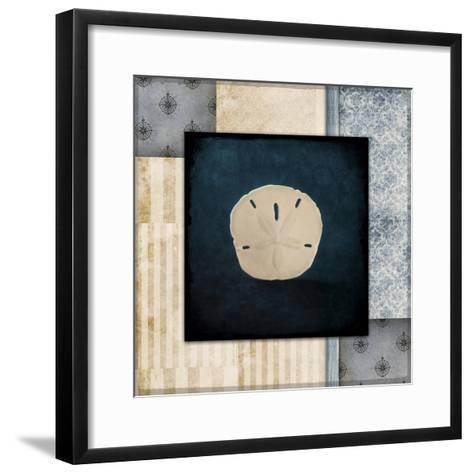 Blue Sea Sand Dollar-LightBoxJournal-Framed Art Print