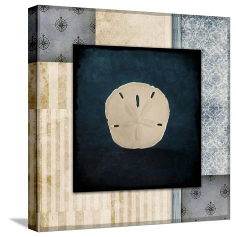Blue Sea Sand Dollar-LightBoxJournal-Stretched Canvas Print