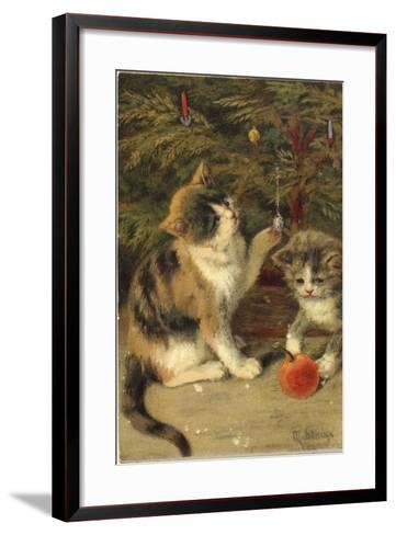 Kitty Cats-Vintage Apple Collection-Framed Art Print