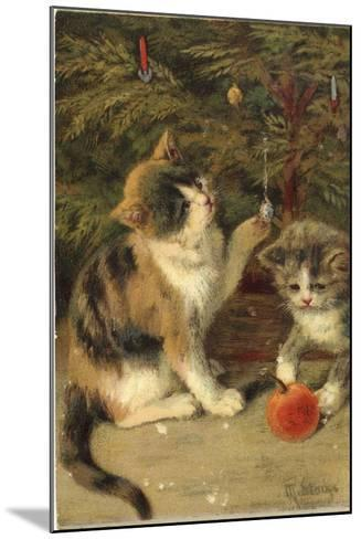 Kitty Cats-Vintage Apple Collection-Mounted Giclee Print