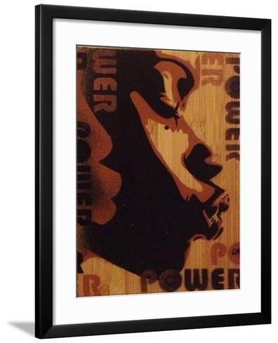 Power Kiss-Abstract Graffiti-Framed Art Print