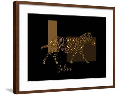 Gilt Zebra-Tina Lavoie-Framed Art Print