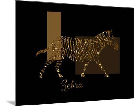 Gilt Zebra-Tina Lavoie-Mounted Giclee Print