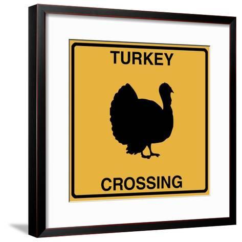 Turkey Crossing-Tina Lavoie-Framed Art Print