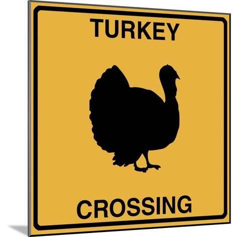 Turkey Crossing-Tina Lavoie-Mounted Giclee Print
