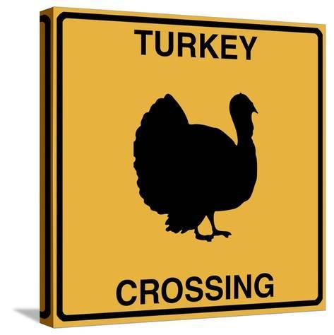 Turkey Crossing-Tina Lavoie-Stretched Canvas Print
