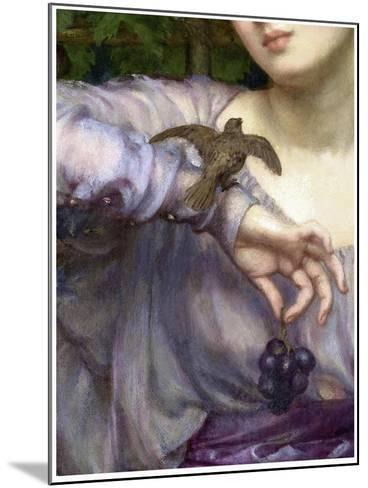 Edward John Poynter, Lesbia and her sparrow Detail 1907-Vintage Lavoie-Mounted Giclee Print