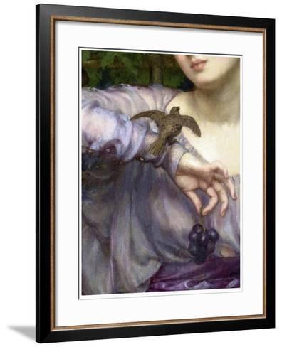 Edward John Poynter, Lesbia and her sparrow Detail 1907-Vintage Lavoie-Framed Art Print