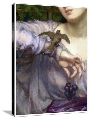 Edward John Poynter, Lesbia and her sparrow Detail 1907-Vintage Lavoie-Stretched Canvas Print