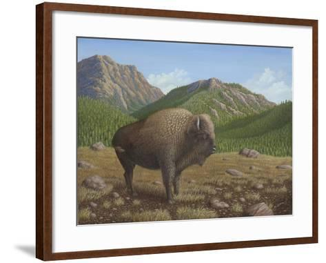 Bison-Robert Wavra-Framed Art Print
