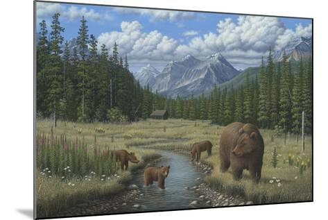 Checking Things Out - Grizzlies-Robert Wavra-Mounted Giclee Print
