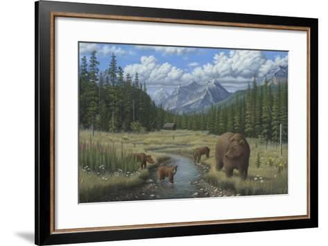 Checking Things Out - Grizzlies-Robert Wavra-Framed Art Print