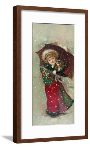 Little Girl Dog-Vintage Apple Collection-Framed Art Print