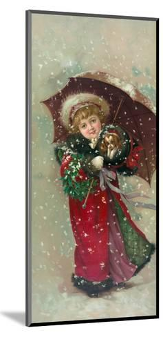 Little Girl Dog-Vintage Apple Collection-Mounted Giclee Print