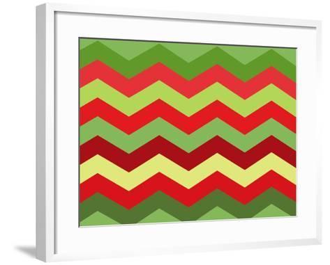 Xmas Chevron-Color Bakery-Framed Art Print