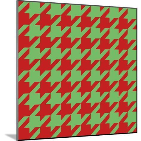 Xmas Houndstooth-Color Bakery-Mounted Giclee Print