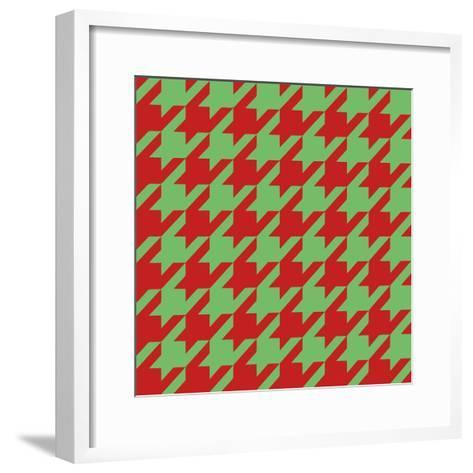 Xmas Houndstooth-Color Bakery-Framed Art Print