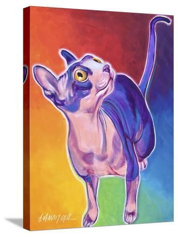 Cat - Bree-Dawgart-Stretched Canvas Print