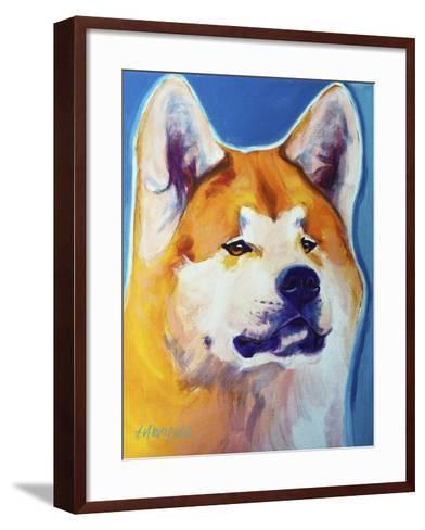 Akita - Apricot-Dawgart-Framed Art Print