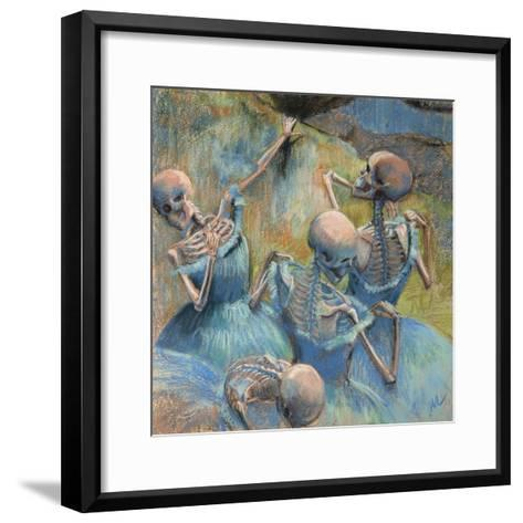 Blue Skelly Dancers-Marie Marfia Fine Art-Framed Art Print