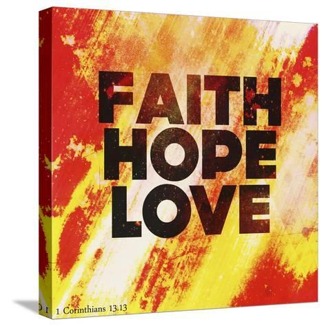 Faith Hope Love II-Vintage Skies-Stretched Canvas Print