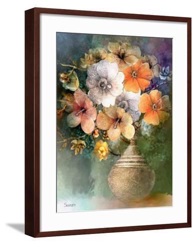 Flower Bunch-Skarlett-Framed Art Print