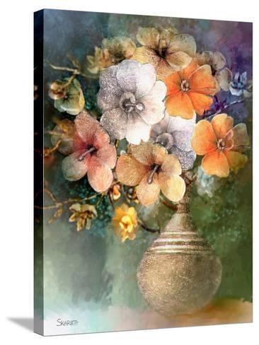 Flower Bunch-Skarlett-Stretched Canvas Print