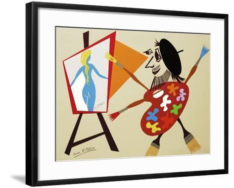 34CO-Pierre Henri Matisse-Framed Art Print