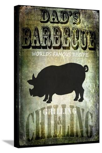 Dad's BBQ-LightBoxJournal-Stretched Canvas Print