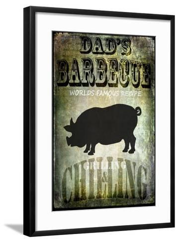 Dad's BBQ-LightBoxJournal-Framed Art Print