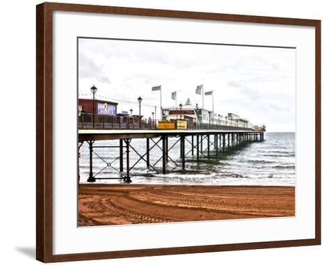 Paignton Pier-Toula Mavridou-Messer-Framed Art Print