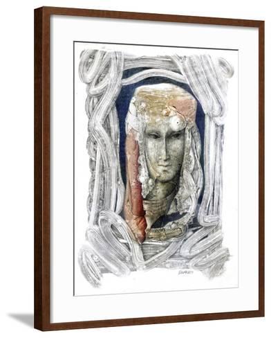 Reflection-Skarlett-Framed Art Print