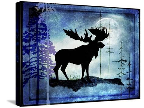 Midnight Moose-LightBoxJournal-Stretched Canvas Print