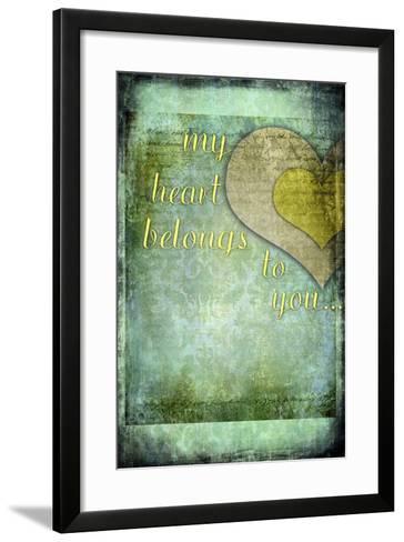 My Heart Belongs to You-LightBoxJournal-Framed Art Print