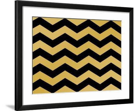 Xmas Chevron 5-Color Bakery-Framed Art Print